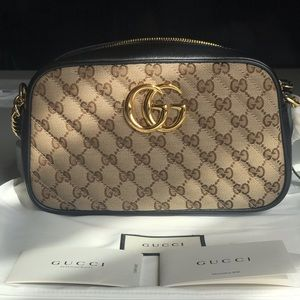 Gucci GG Marmont Logo Canvas Camera Bag